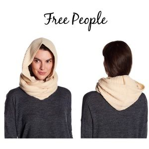 BNWT Free People Hooded Infinity Scarf One Size
